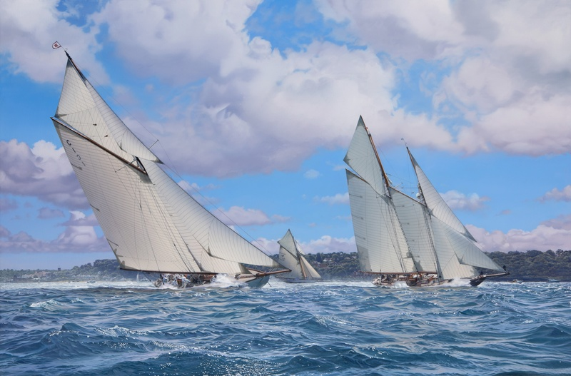 Classics racing off the Royal Yacht Squadron