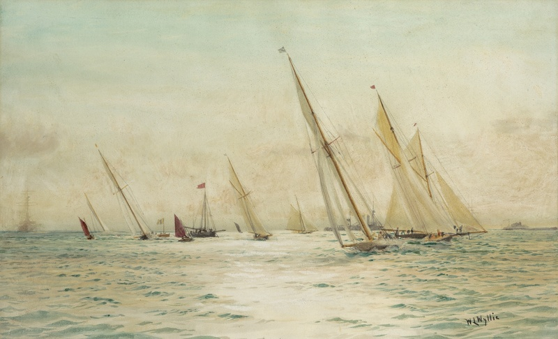 Yachts racing at Weymouth